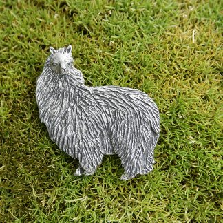 Brosche Alpaka